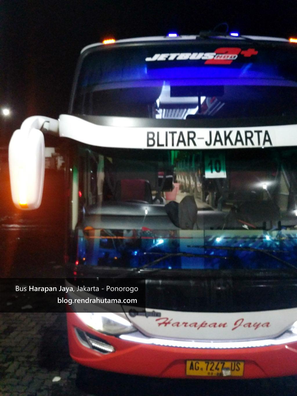 Pengalaman Naik Bus Harapan Jaya Rute Jakarta Ponorogo Rewrite Blog  Blitar