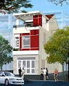 Nhà Vấn- Phương án thiết kế lệch tầng