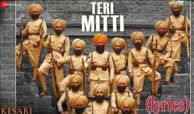 lyrics of teri mitti - B Praak - Kesari