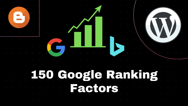 150 SEO Factors: Get a Higher Google Search Ranking!