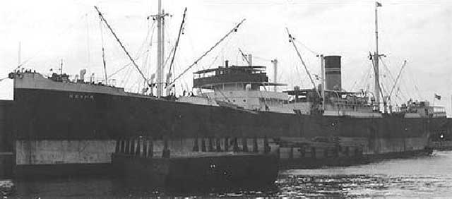 Norwegian freighter Heina, sunk on 11 February 1942 worldwartwo.filminspector.com