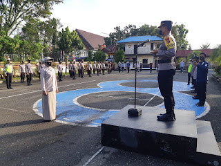 Kapolres Pangkep Pimpin Korp Raport kenaikan pangkat PNS Polri
