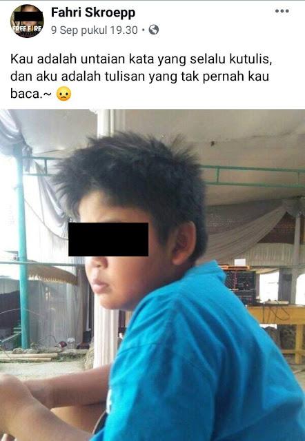 10 Status Galau 'Fahri Skroepp Bocah Sadboy' Ini Lagi Viral