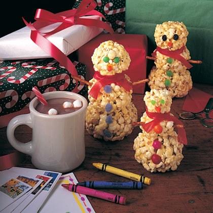 Popcorn Snowmen Recipe