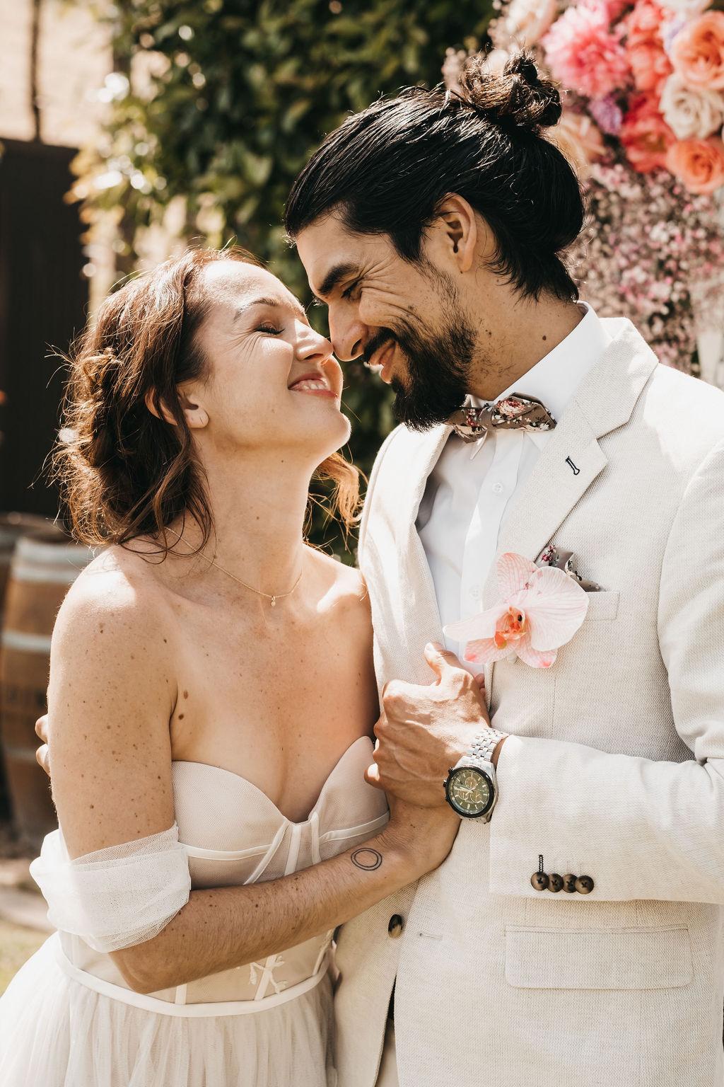 ABUNDANTLY PINK TEXTURAL WEDDING STYLING
