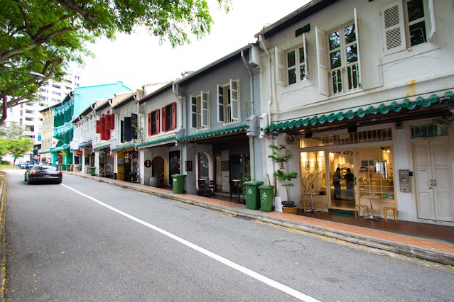 shop house (case coloniali) di Duxton hill-Singapore
