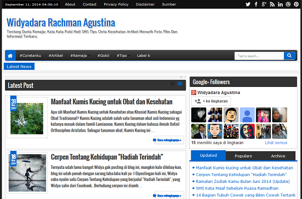 Template Blog Widyadara yang Baru