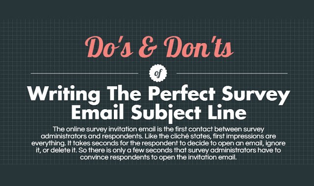 Do's and Don'ts of Writing the Perfect Survey Email Subject Line