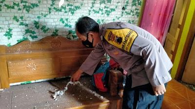 Diduga Akibat Petasan Dari Balon Udara, Rumah warga Karangsentul Purbalingga Rusak