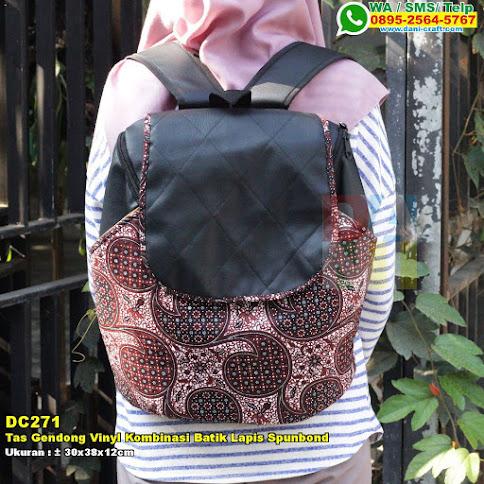 Tas Gendong Vinyl Kombinasi Batik Lapis Spunbond