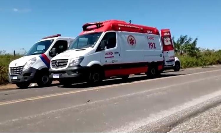 Brita na pista provoca acidente na BR-420 e deixa uma pessoa morta em Jaguaquara