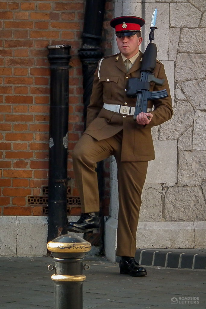 A soldier in Gibraltar