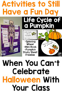 You can still have fun with your students on October 31st without mentioning or celebrating Halloween. These activities are fun to teach your students about the life cycle of a pumpkin and the skeletal system. You can also complete a Comprehension Quest with your students where they will read non-fiction fall themed passages!