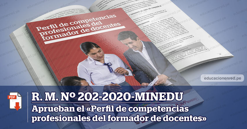 MINEDU publicó Anexo de la R. M. Nº 202-2020-MINEDU que aprueba el «Perfil de competencias profesionales del formador de docentes»
