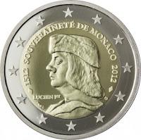Monaco 2€ kolikko 2012