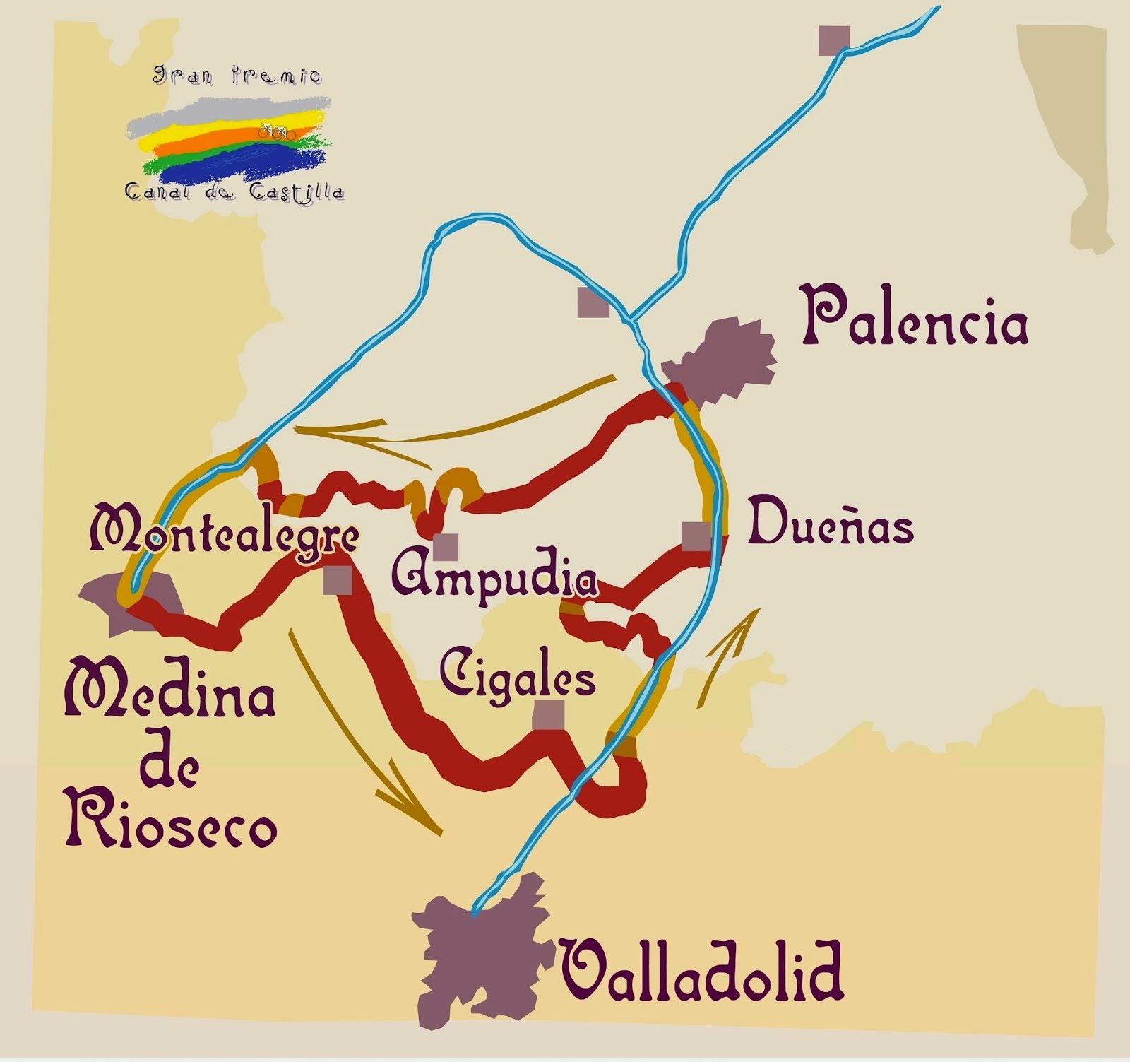 Mapa GP Canal de Castilla 2015