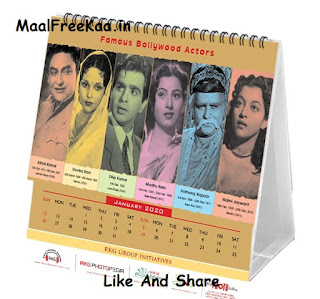 Bollywood New Year Calendar 2020