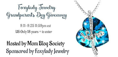 Enter the Foxylady Jewelry Grandparent's Day Giveaway. Ends 9/25