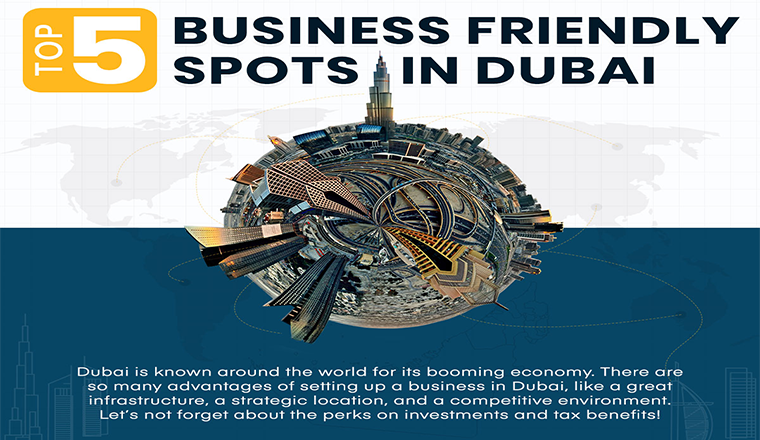 Business-Friendly Spots in Dubai #infographic