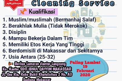 Lowongan Pekerjaan Cleaning Service - Loker Cleaning Service
