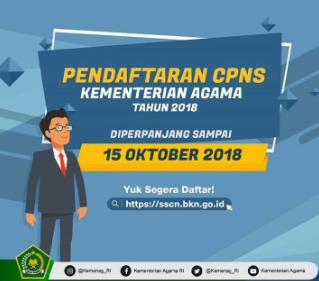 Lebih Dari 100 Ribu Pelamar Sudah Mendaftar CPNS 2018 di Lingkungan Kemenag