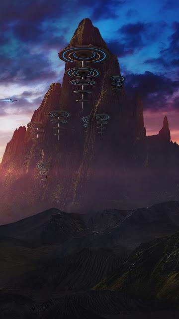 Montanhas, Fantasia, Paisagem, Arte