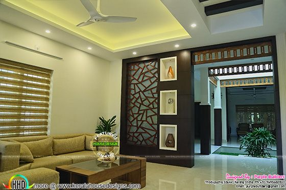Furnished living room Kerala