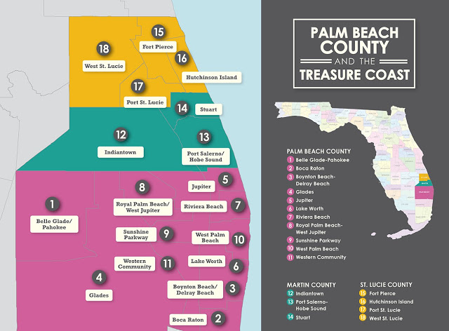Onde ficar em Palm Beach na Flórida: mapa de cidades e regiões