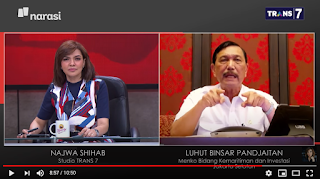 Luhut Sindir Tokoh Bintang 4 Bikin Ribut, Najwa Tanya: Apakah yang Dimaksud Deklarasi KAMI?