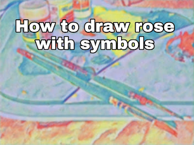 How To Draw Simple Rose With Symbols