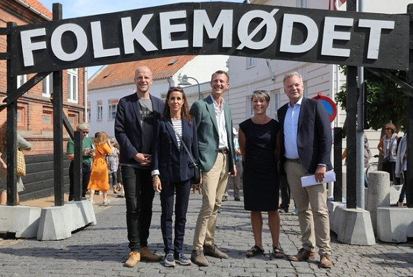 Princess Marie and Prince Joachim of Denmark visited Folkemødet (The People's Political Festival) held in Allinge, Bornholm