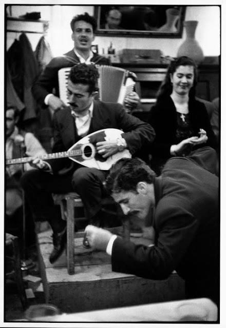 Henri Cartier-Bresson - Zeibekiko dancer in a café. Piraeus. Greece. 1953.