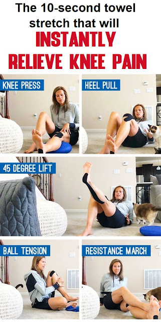 The 10-secοnd tοwel stretch that will instantly relieve knee pain