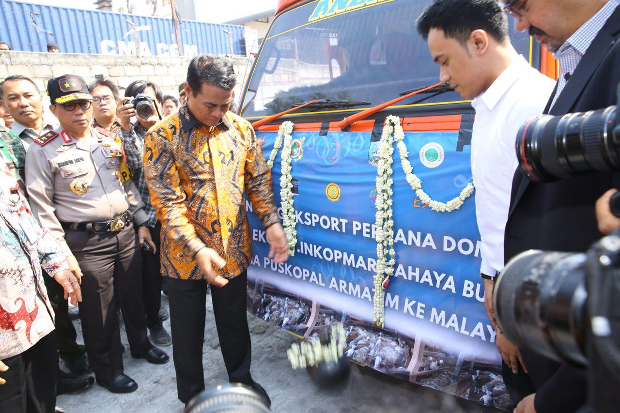 Indonesia Launching Ekspor Perdana Ke Malaysia 60.000 ekor
