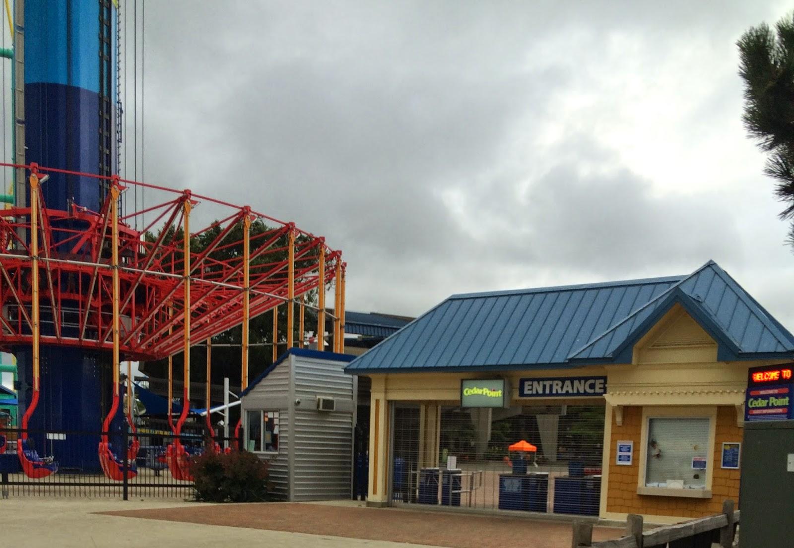 Cedar Point Boardwalk Entrance with WindSeeker