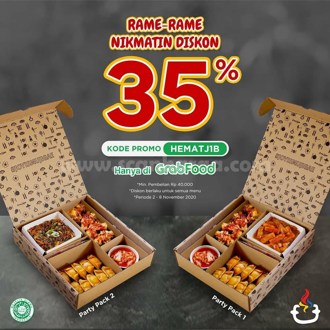 Promo Mujigae Paket Party Pack Diskon 35% pesan antar via Grabfood
