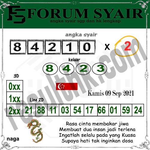 Forum Syair SGP Kamis 09 September 2021