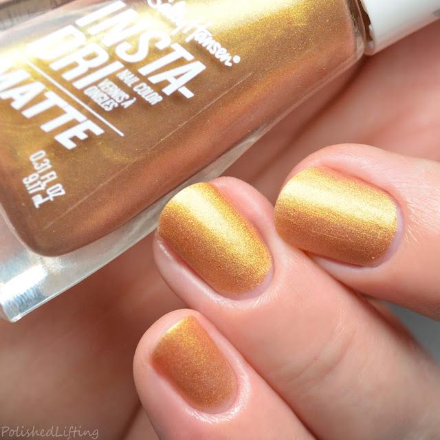 matte gold metallic nail polish