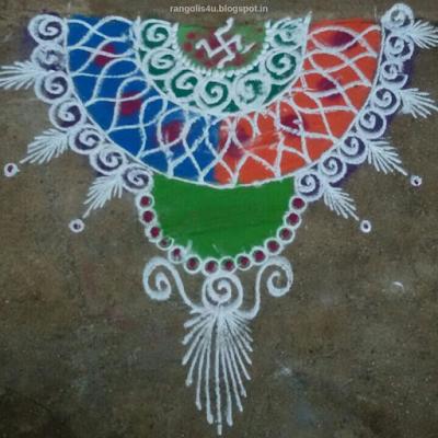 Multi Color Swastik Rangolis