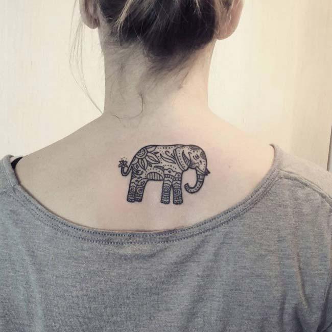 ense bölgesi fil dövmesi