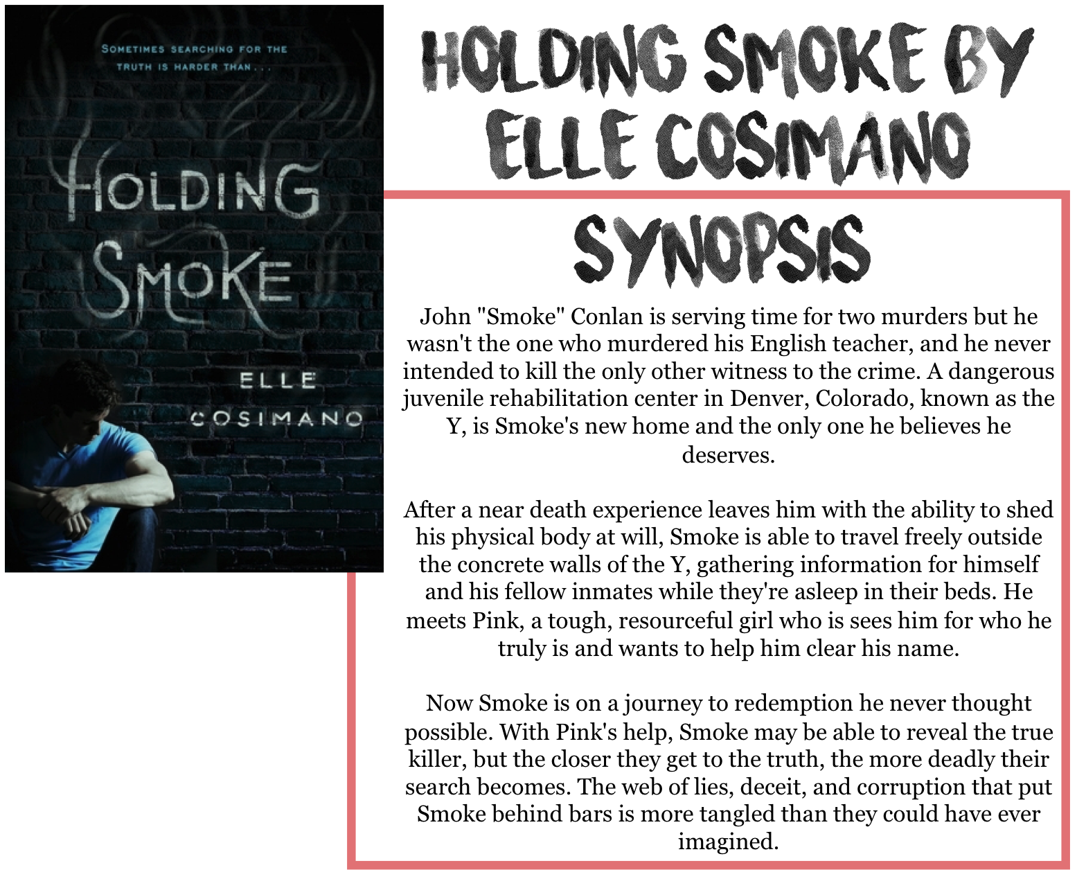 Download Holding Smoke By Elle Cosimano