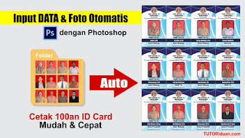 Template ID Card Otomatis