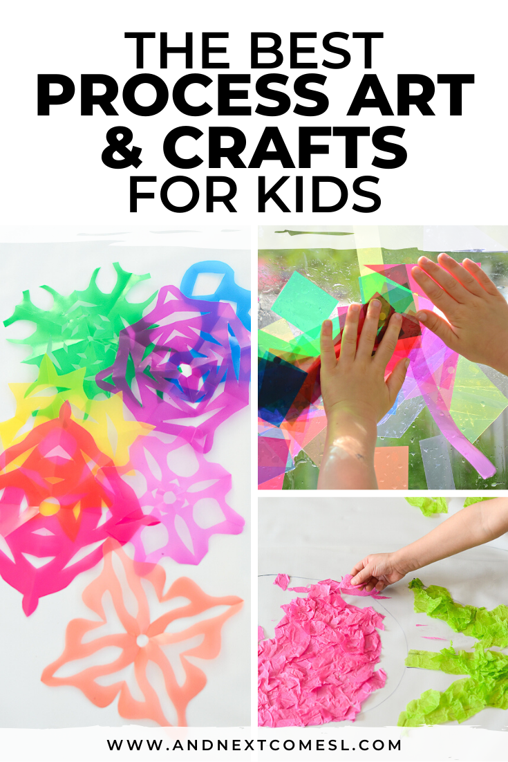 Easy DIY crafts for kids to make at home, plus process art ideas for toddlers and preschoolers