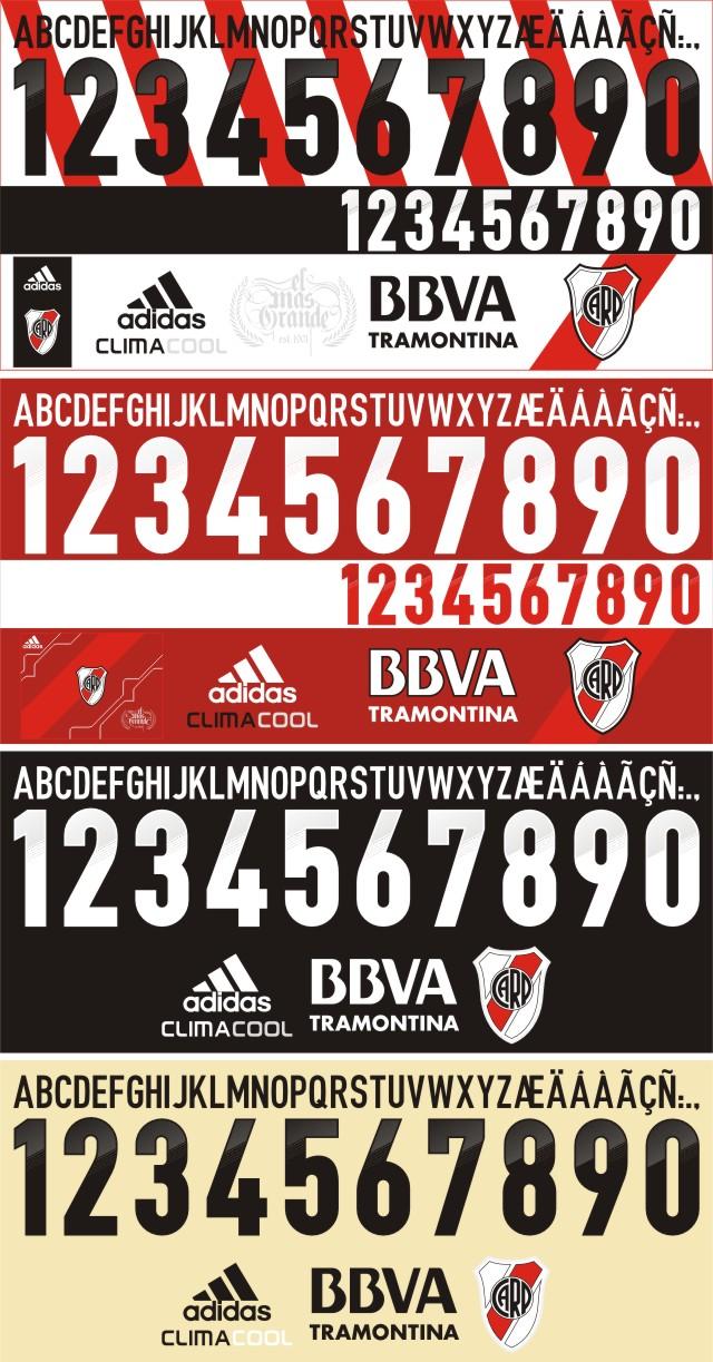 River Plate 2012-13 tipografía 0baf567003d6c