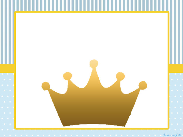 Crown in Light Blue: Free Printable Invitations, Boxes and Free Party ...