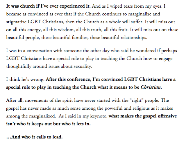 Rachel Held Evans quote from Gay Christian Network 2014 Conference