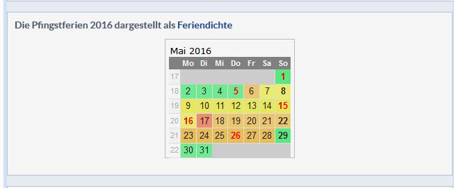 Pfingstferien 2016