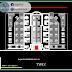 مخطط مشروع عمارة سكنية 5 طوابق اوتوكاد dwg