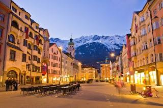 Innsbruck austria avusturya akşam
