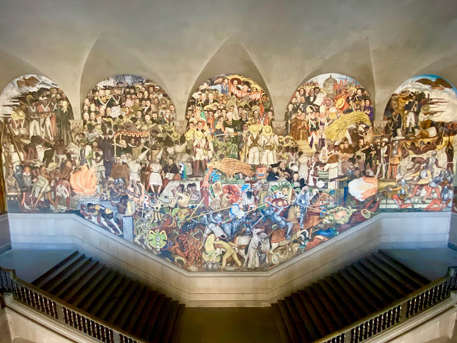 Diego Rivera mural, National Palace, Mexico City, Mexico